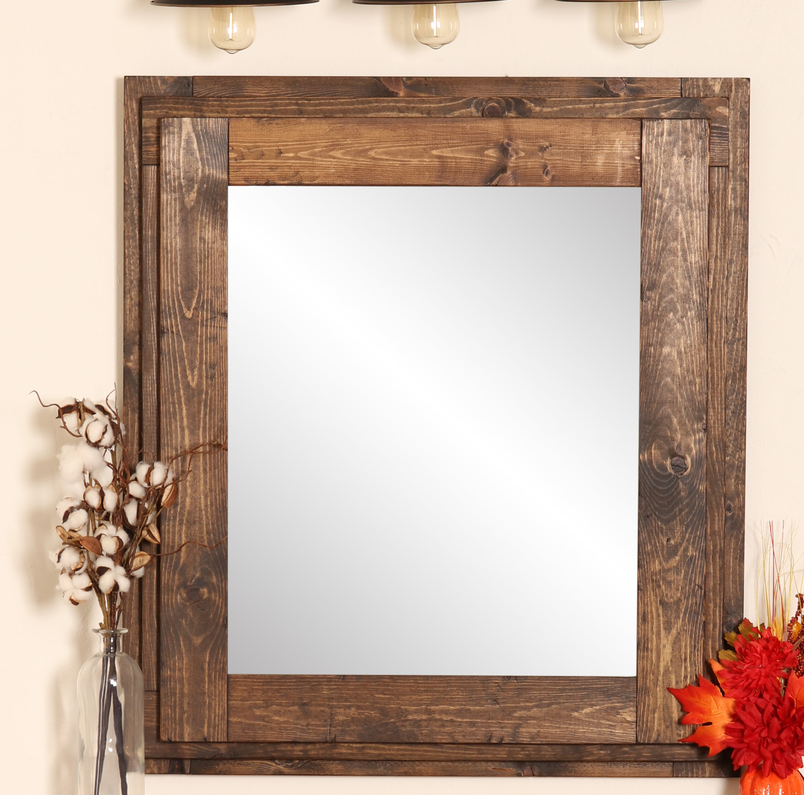 Vintage Farmhouse Mirrors | Wayfair With Regard To Kist Farmhouse Wall Mirrors (View 10 of 20)