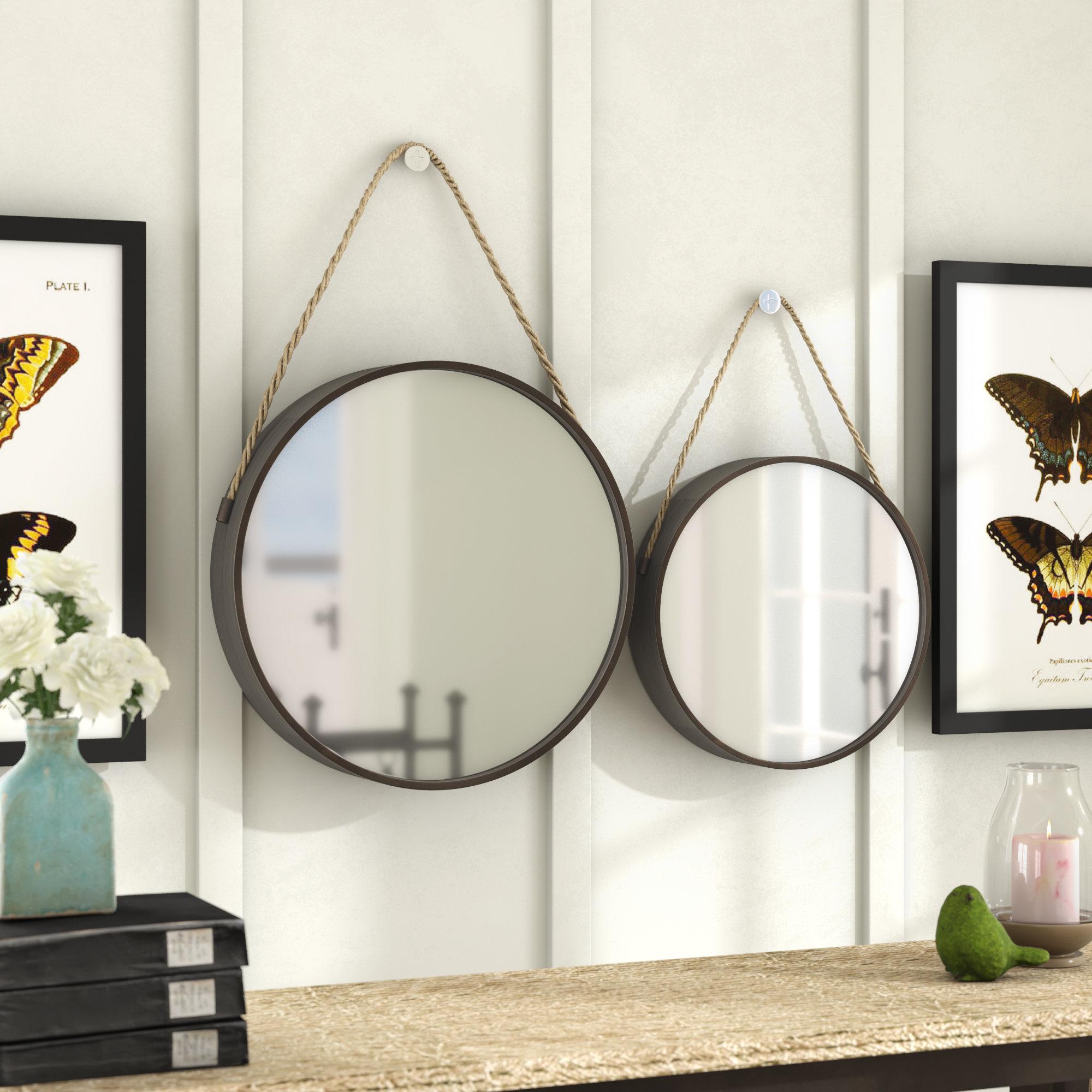 Vintage Metal Mirror | Wayfair Throughout Koeller Industrial Metal Wall Mirrors (View 13 of 20)