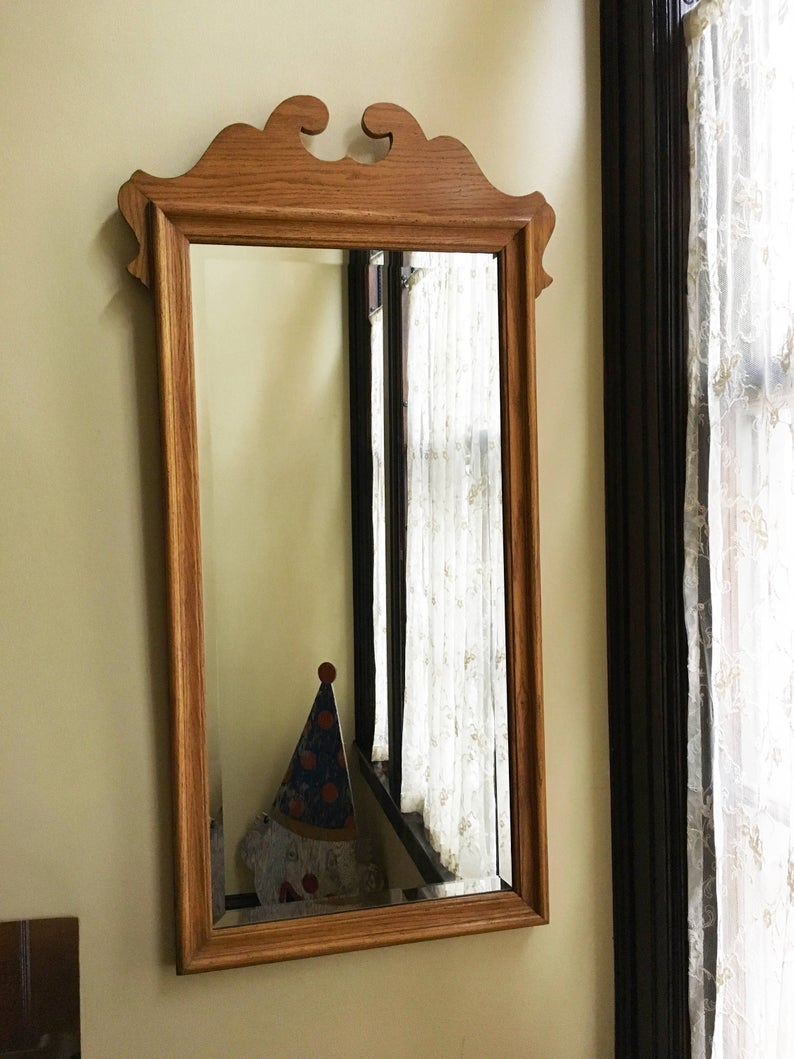 Vintage Mirror For Wall Mirror Antique Mirror Old Mirror Wood Mirror Hall  Mirror Bedroom Mirror Beveled Mirror Traditional Decor Chippendale Throughout Polen Traditional Wall Mirrors (View 9 of 20)
