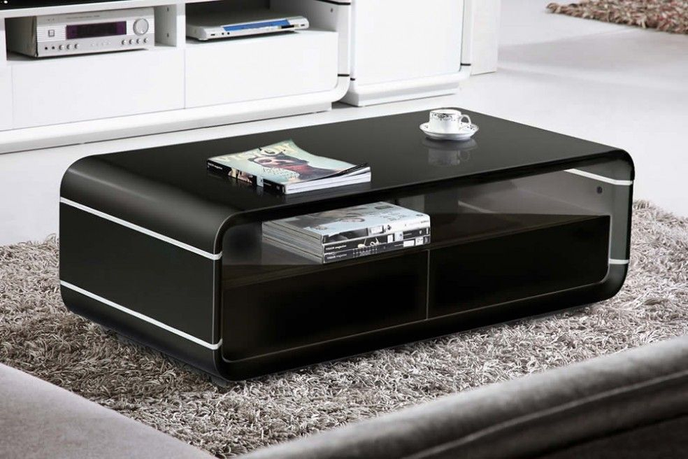 Vista 1M Black Gloss Coffee Table | Mmm | Table Furniture Within Strick & Bolton Sylvia Geometric High Gloss Coffee Tables (Image 21 of 25)