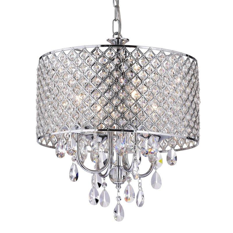 Von 4 Light Crystal Chandelier Intended For Von 4 Light Crystal Chandeliers (Image 18 of 20)