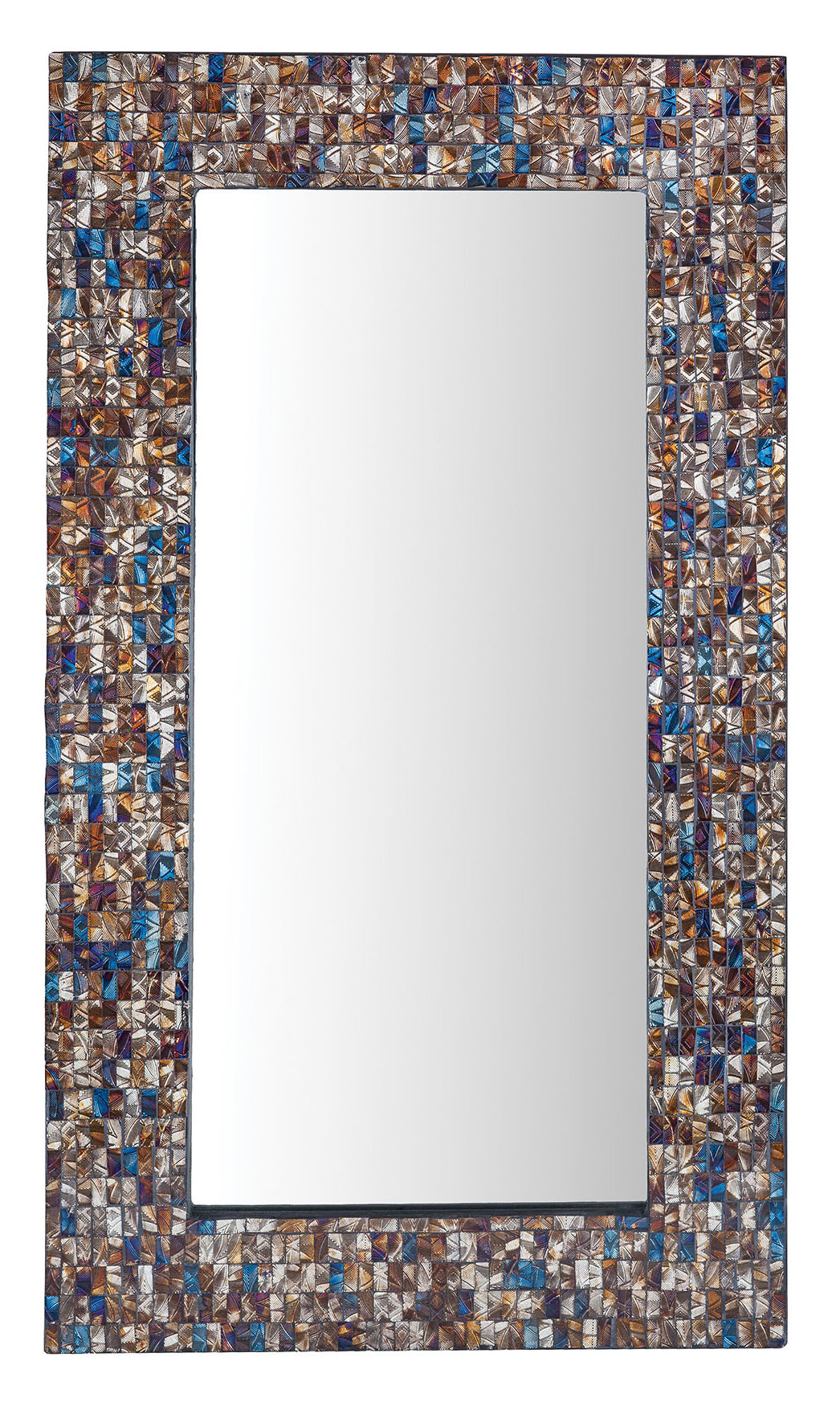 Vredenburgh Hand Inlaid Glass Accent Wall Mirror Intended For Hussain Tile Accent Wall Mirrors (Image 18 of 20)