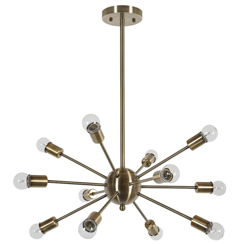 Vroman 12 Light Sputnik Chandelier Regarding Vroman 12 Light Sputnik Chandeliers (Image 18 of 20)