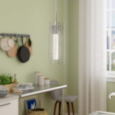 Wade Logan Foxburg 1 Light Cylinder Pendant | Products In Intended For Finlayson Iron Gate 1 Light Single Bell Pendants (View 22 of 25)