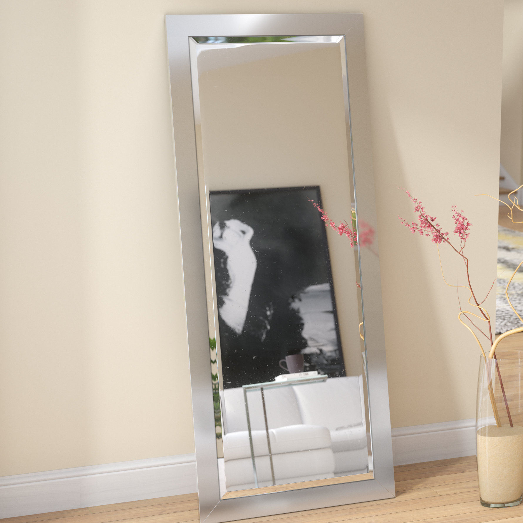 Wade Logan Industrial Beveled Full Length Mirror & Reviews Pertaining To Dalessio Wide Tall Full Length Mirrors (Image 18 of 20)