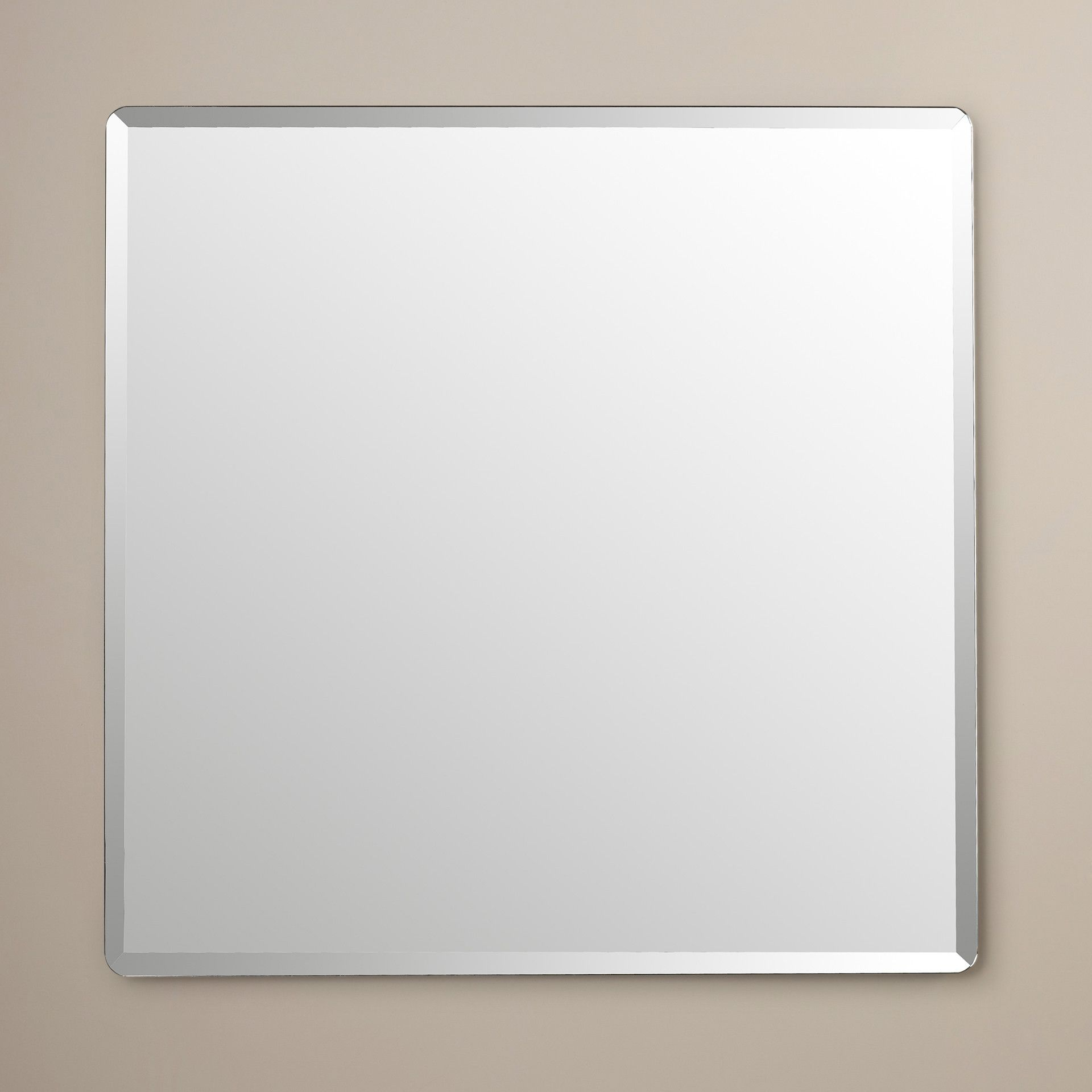 Wade Logan® Kayden Frameless Beveled Wall Mirror – Possible Throughout Tetbury Frameless Tri Bevel Wall Mirrors (Image 18 of 20)