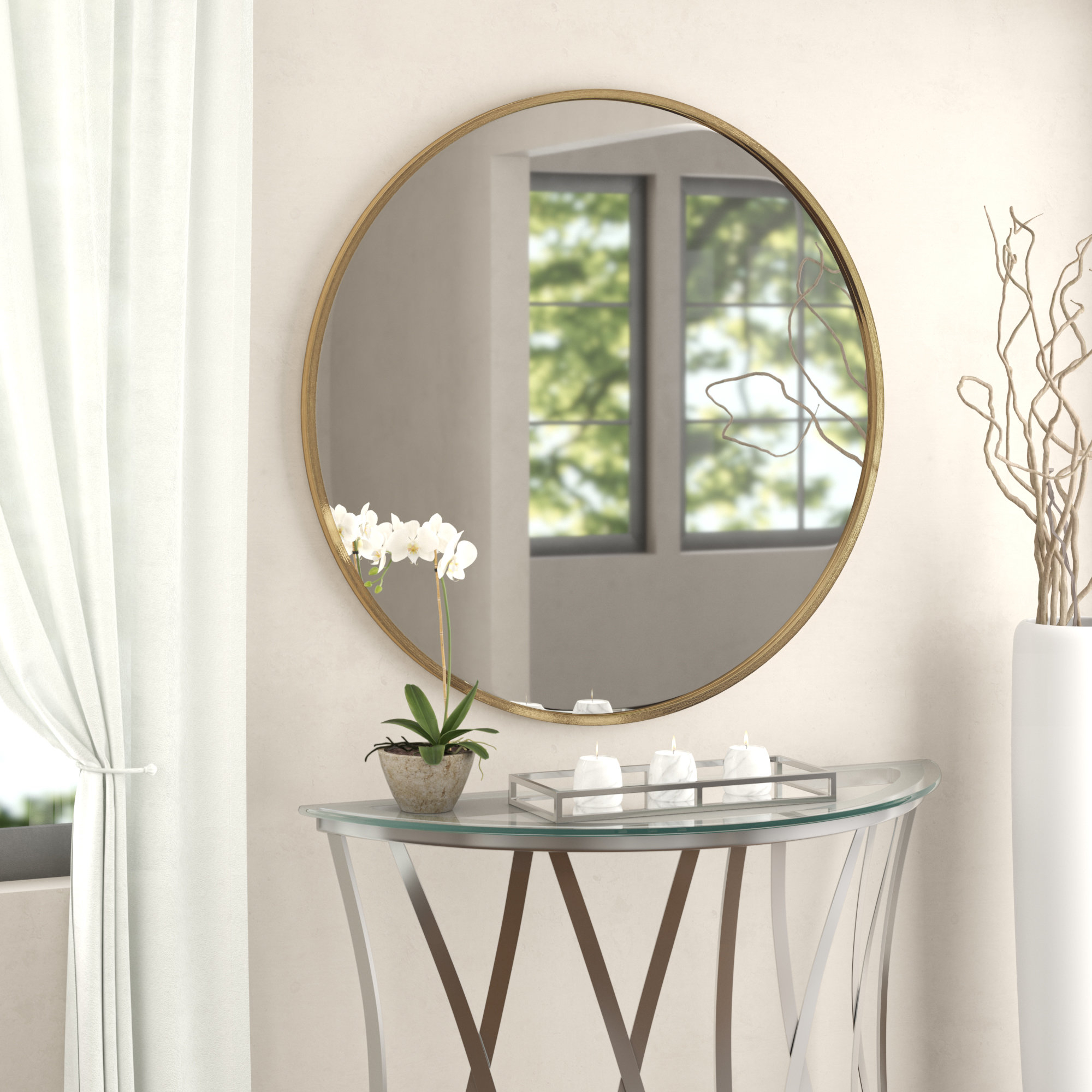 Wade Logan Mahanoy Modern And Contemporary Distressed Accent Intended For Gaunts Earthcott Modern & Contemporary Beveled Accent Mirrors (Image 19 of 20)