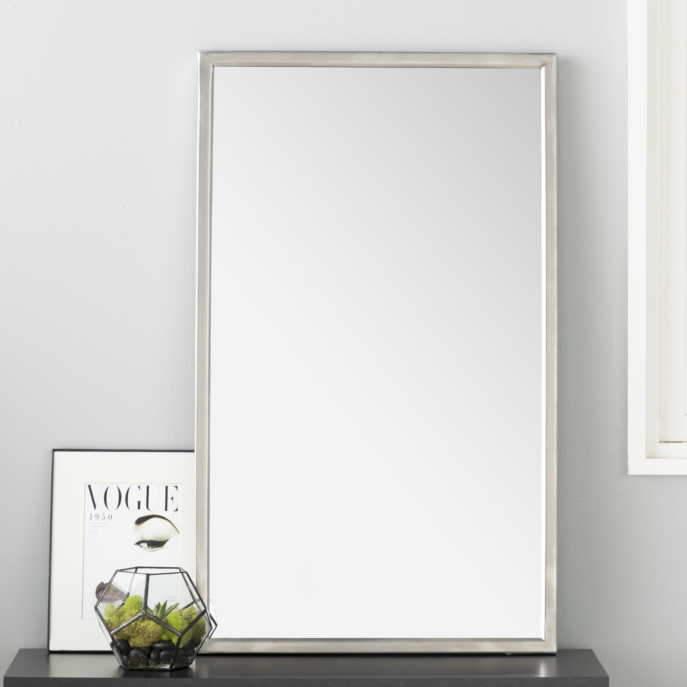 Wade Logan Petrolia Frame Modern & Contemporary Wall Mirror Intended For Hallas Wall Organizer Mirrors (Image 20 of 20)