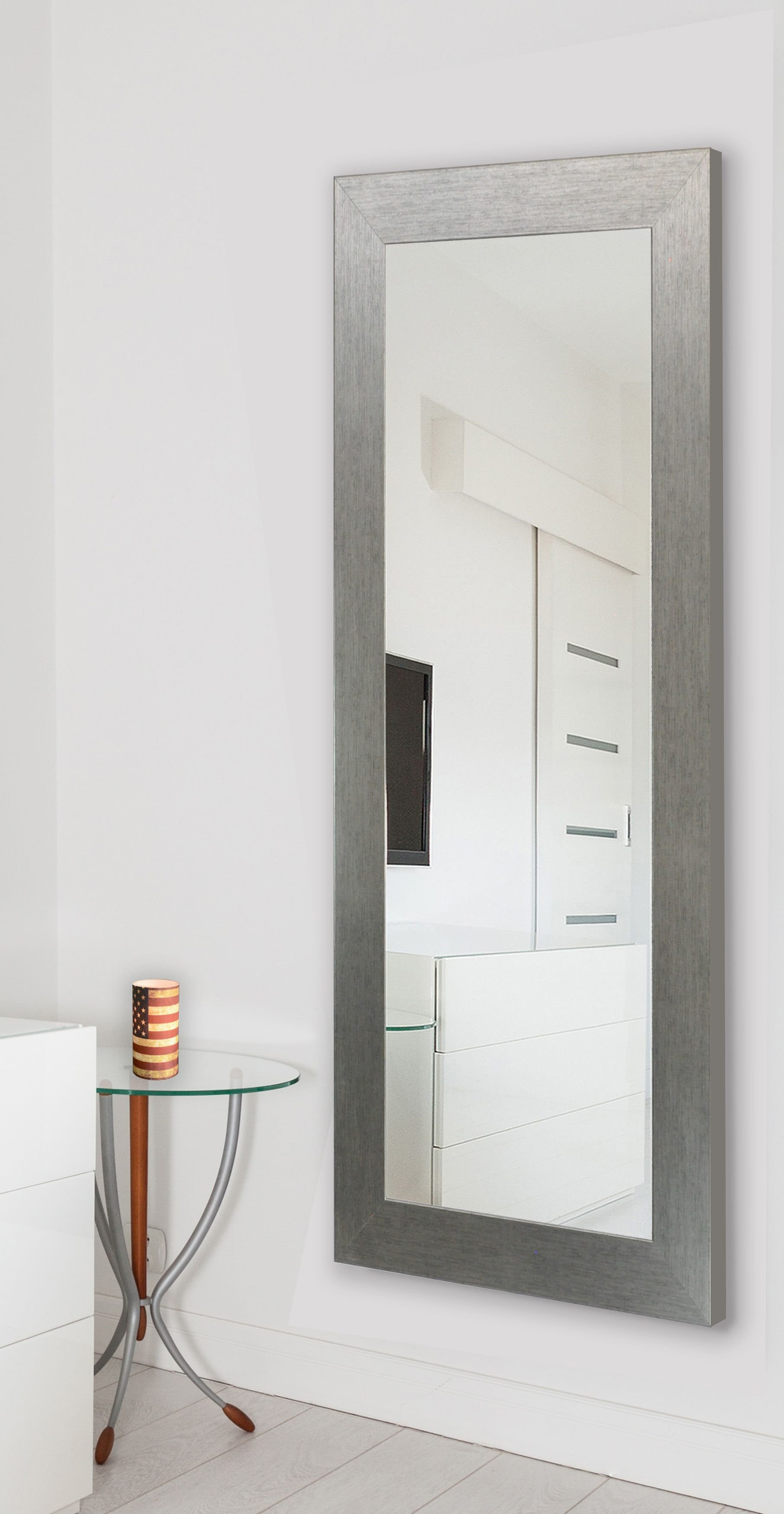 Wade Logan Rectangle Silver Full Length Mirror & Reviews Within Sartain Modern & Contemporary Wall Mirrors (View 18 of 20)
