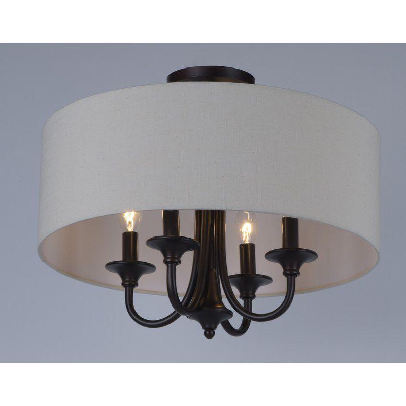 Wadlington 4 Light Semi Flush Mount | Design – Light Regarding Wadlington 5 Light Drum Chandeliers (Image 12 of 20)