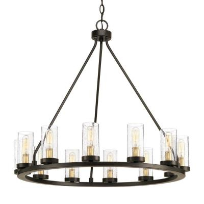 Wagon Wheel – Chandeliers – Lighting – The Home Depot Pertaining To Shayla 12 Light Wagon Wheel Chandeliers (View 9 of 20)