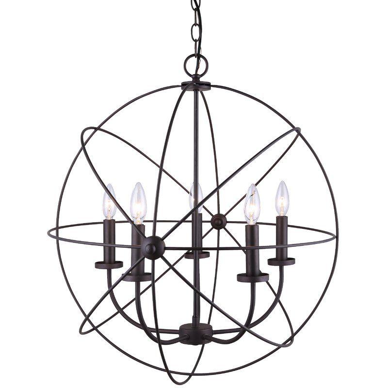 Waldron 5 Light Globe Chandelier In 2019 | Design – Light Intended For Waldron 5 Light Globe Chandeliers (Image 17 of 20)