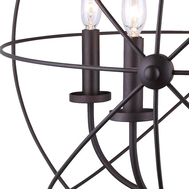 Waldron 5 Light Globe Chandelier Intended For Waldron 5 Light Globe Chandeliers (Image 19 of 20)