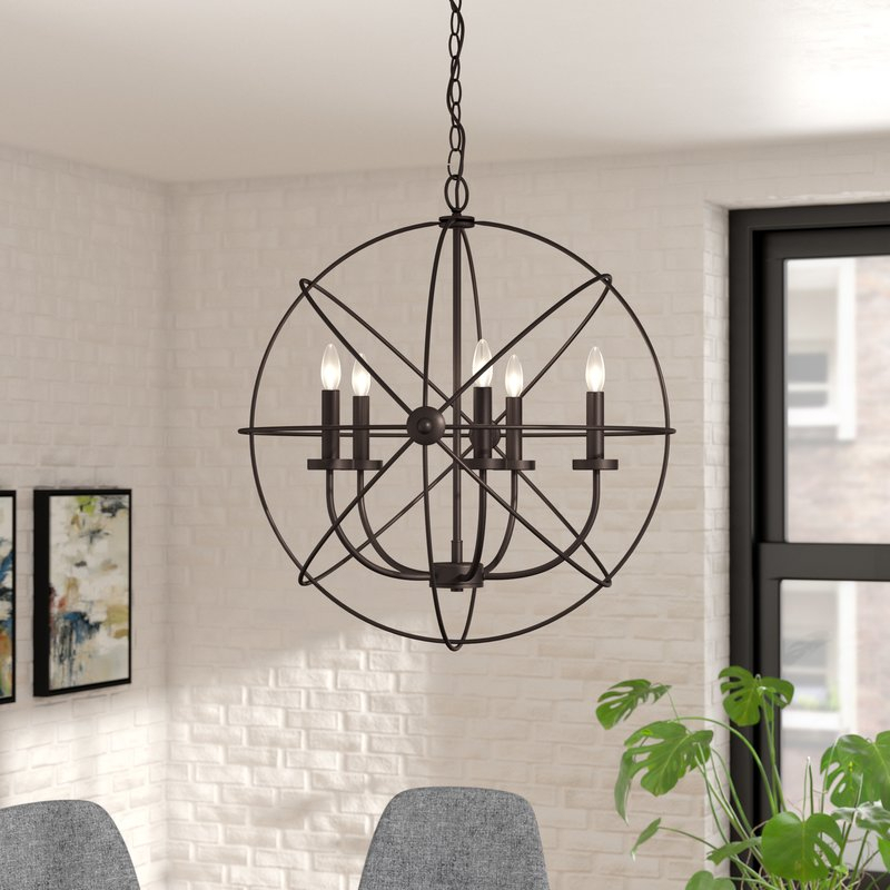 Featured Image of Waldron 5 Light Globe Chandeliers