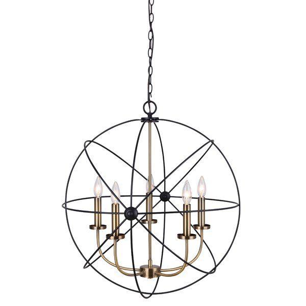 Waldron 5 Light Globe Chandelier | Lighting | Globe Inside Waldron 5 Light Globe Chandeliers (Image 14 of 20)