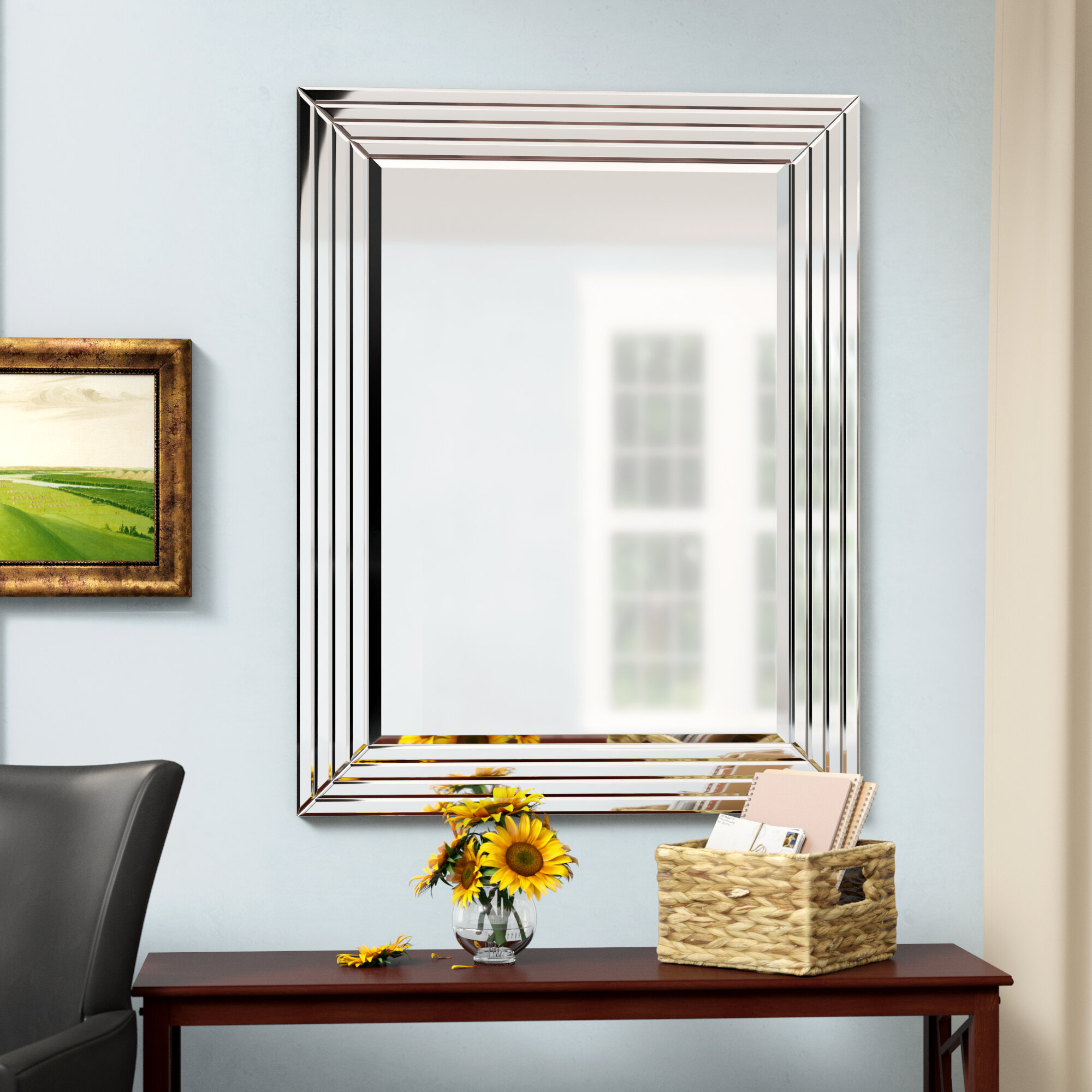 Wall Mirror Inside Dedrick Decorative Framed Modern And Contemporary Wall Mirrors (View 7 of 20)