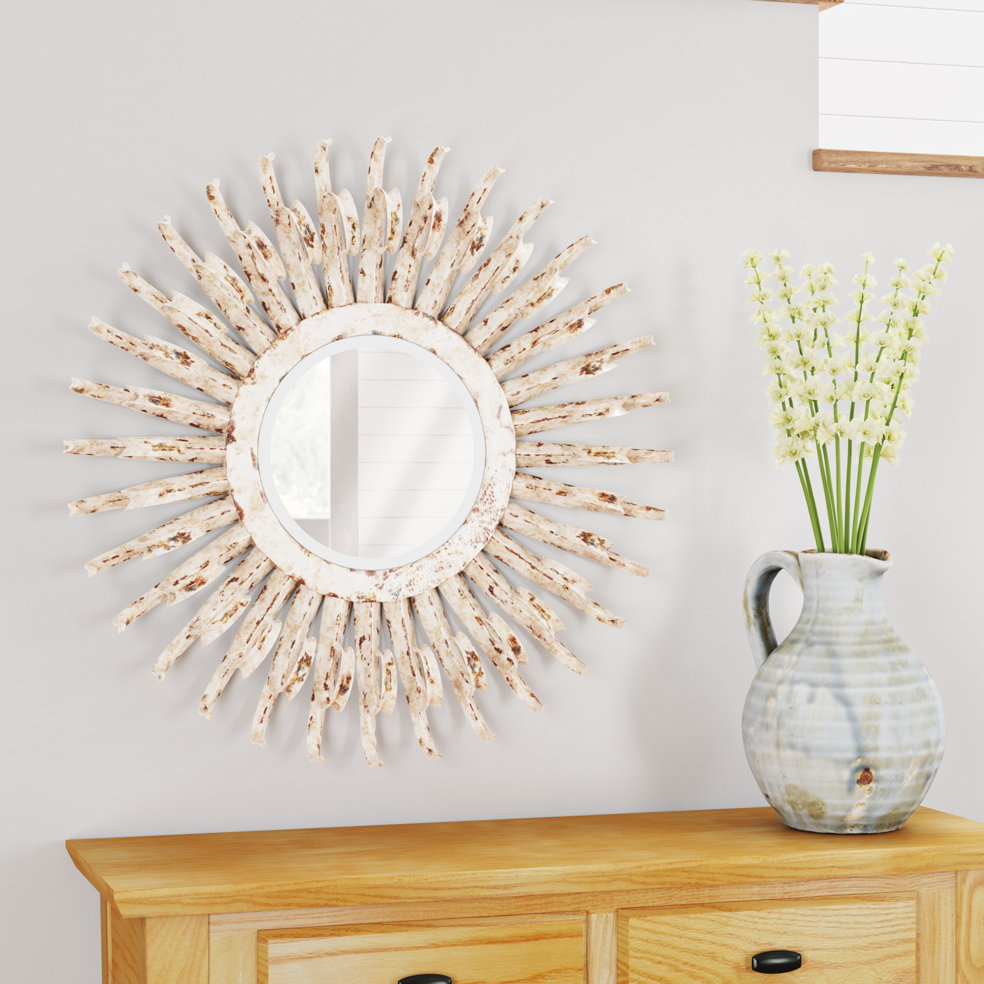 Wall Mirror Intended For Josephson Starburst Glam Beveled Accent Wall Mirrors (Image 20 of 20)