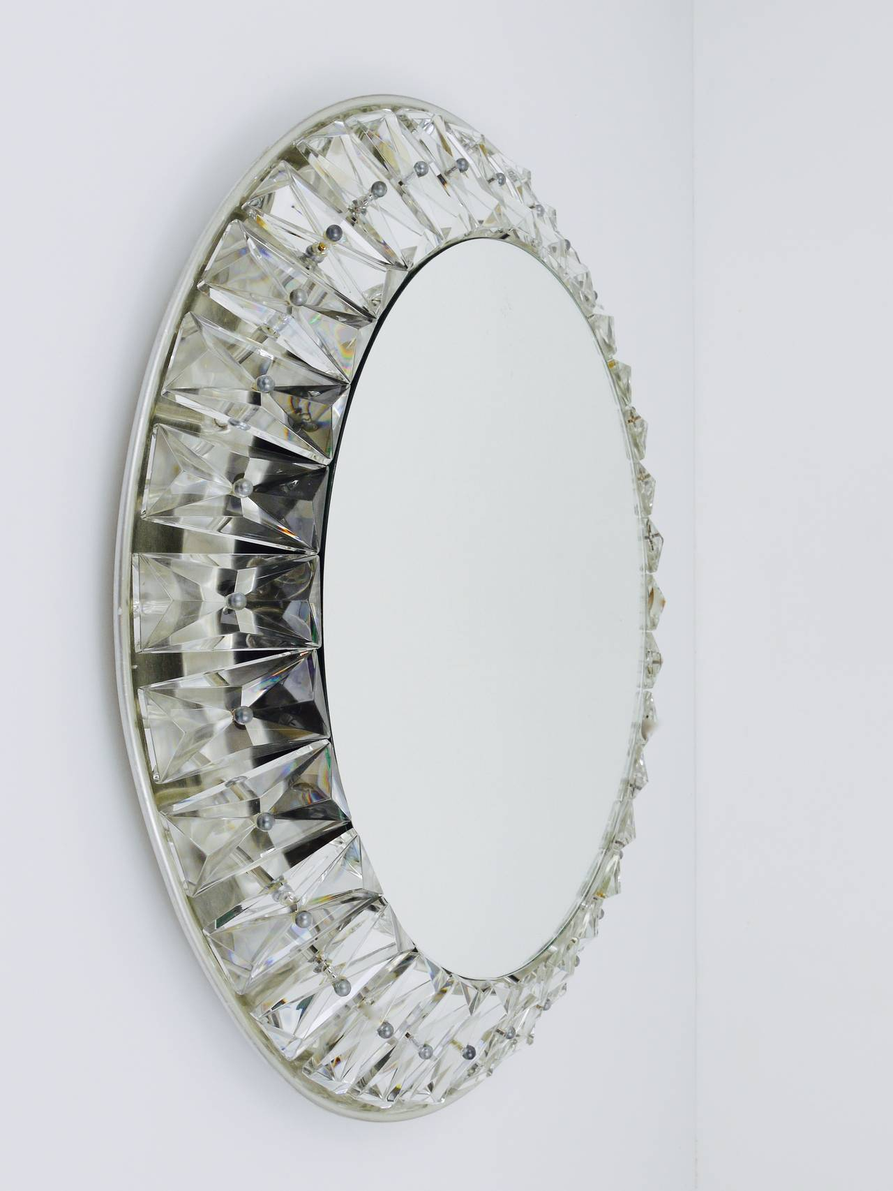 Wall Mirror With Crystals – Home Decorating Ideas & Interior With Regard To Sajish Oval Crystal Wall Mirrors (View 15 of 20)