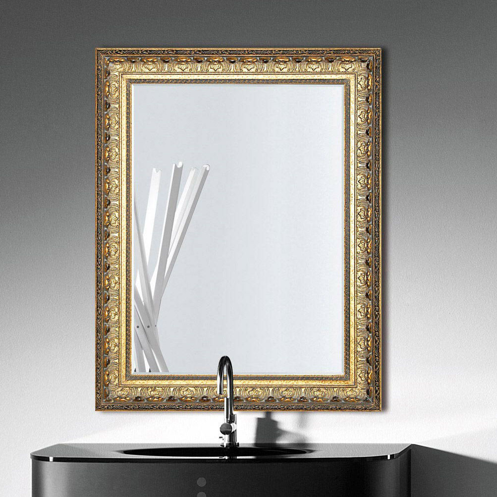 Wall Mounted Bathroom Mirror / Traditional / Rectangular Inside Traditional Metal Wall Mirrors (Image 19 of 20)