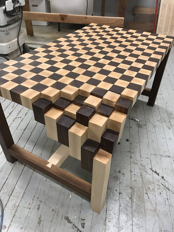Walnut & Maple End Grain Coffee Table (Image 45 of 50)
