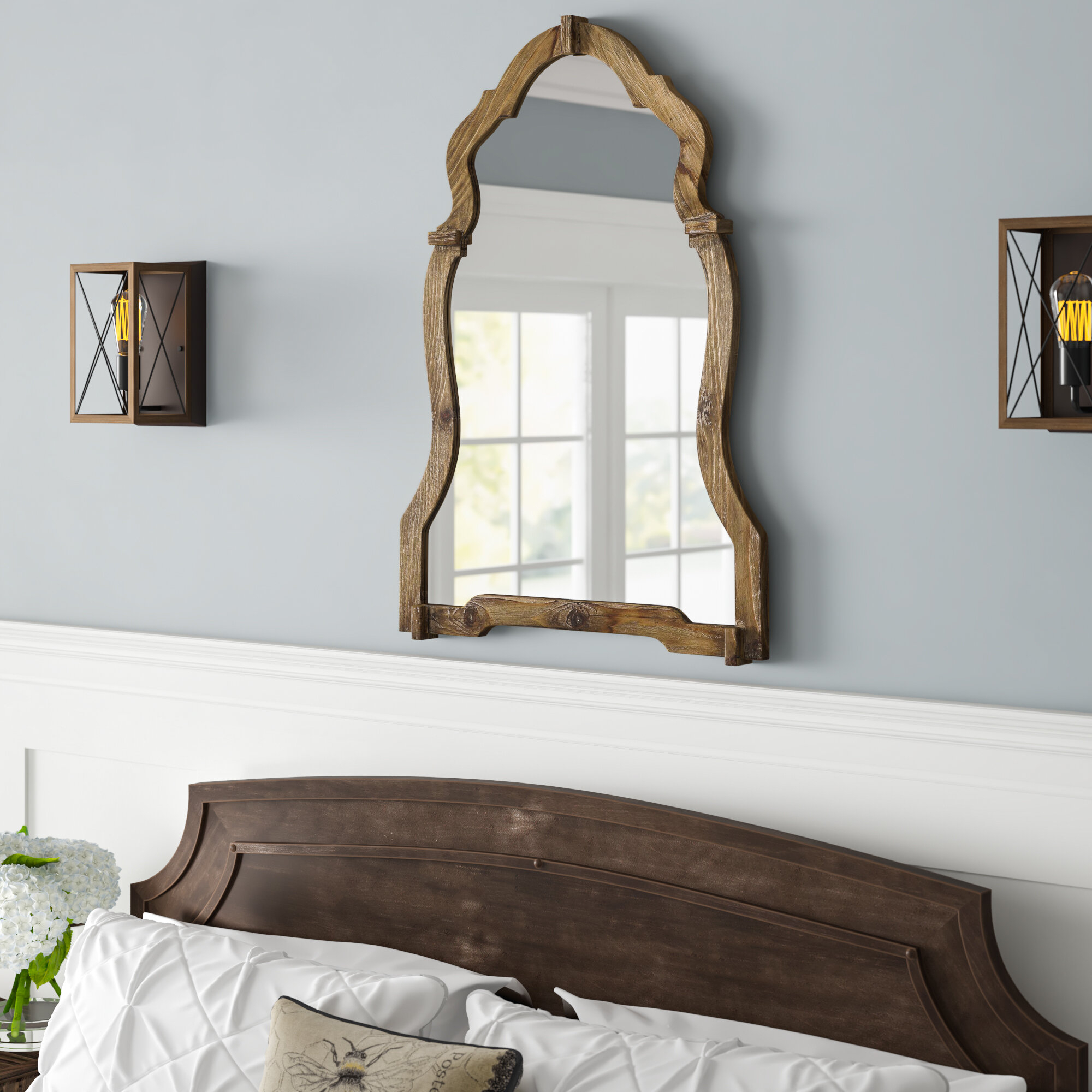 Walnut Wood Wall Mirror Pertaining To Walnut Wood Wall Mirrors (View 18 of 20)