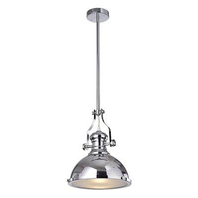 Warehouse Of Tiffany Didya Polished Chrome 1 Light Dome Pendant Light Regarding Hamilton 1 Light Single Dome Pendants (Image 23 of 25)