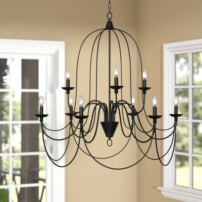 Watford 6 Light Candle Style Chandelier Pertaining To Watford 6 Light Candle Style Chandeliers (Image 15 of 20)