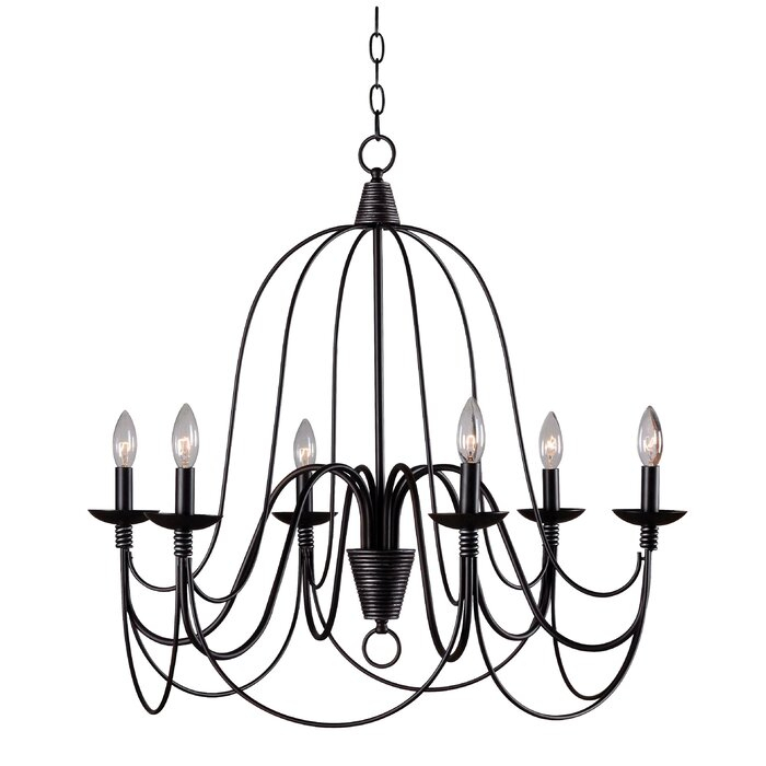 Watford 6 Light Candle Style Chandelier With Regard To Watford 6 Light Candle Style Chandeliers (Image 16 of 20)