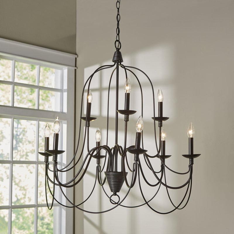 Watford 9 Light Candle Style Chandelier Regarding Watford 6 Light Candle Style Chandeliers (Image 18 of 20)