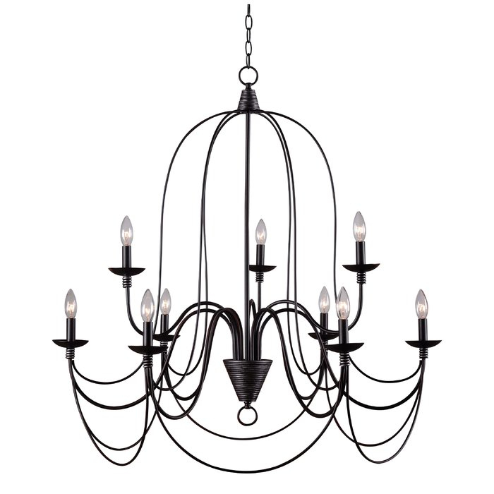 Watford 9 Light Candle Style Chandelier With Regard To Watford 6 Light Candle Style Chandeliers (Image 19 of 20)