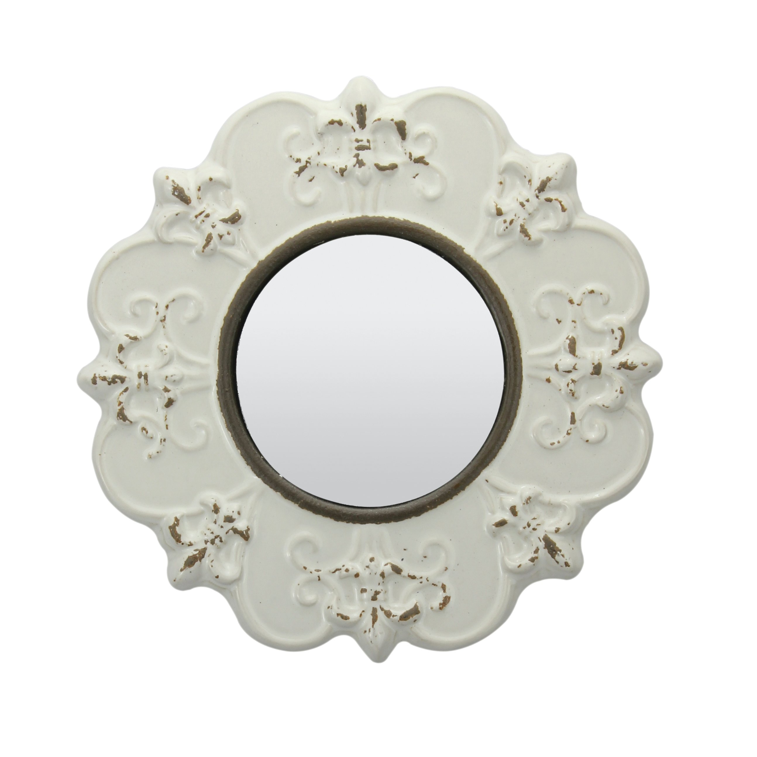 Waverly Place Worn Ceramic Traditional Distressed Wall Mirror In Alissa Traditional Wall Mirrors (View 7 of 20)