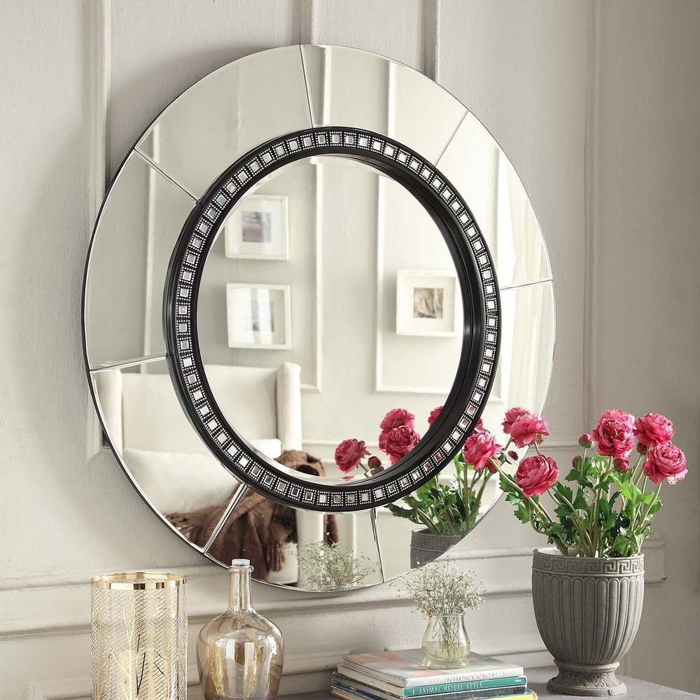 We Love This Chic Mirror To Place Into A Home Office Intended For Point Reyes Molten Round Wall Mirrors (View 17 of 20)