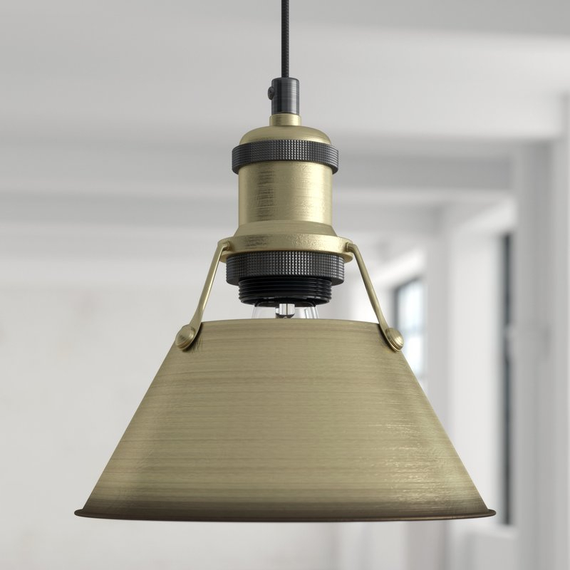 Weatherford 1 Light Single Cone Pendant Regarding Nadeau 1 Light Single Cone Pendants (View 23 of 25)