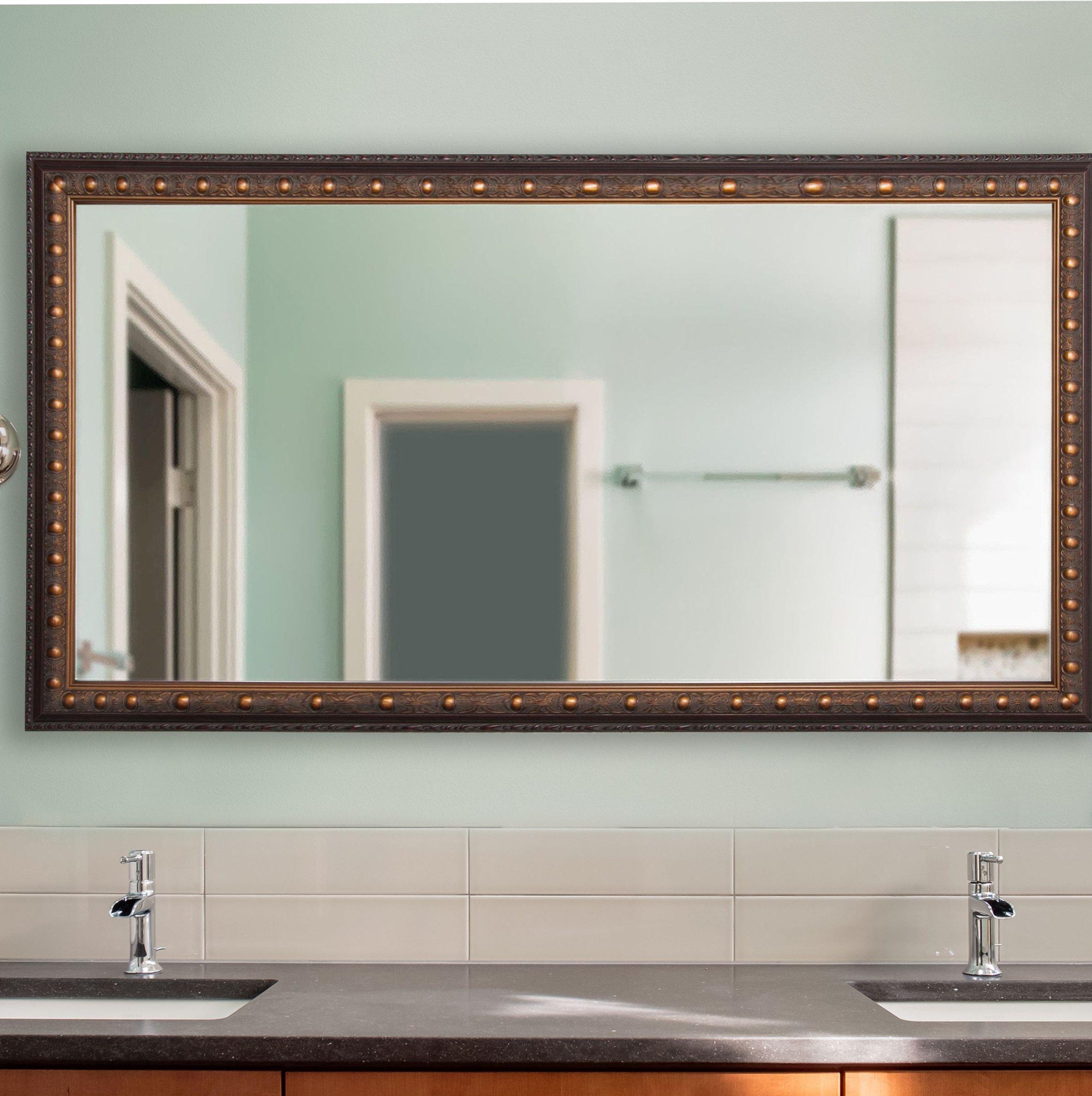Weinstock Bathroom/vanity Mirror Pertaining To Kristy Rectangular Beveled Vanity Mirrors In Distressed (View 5 of 20)