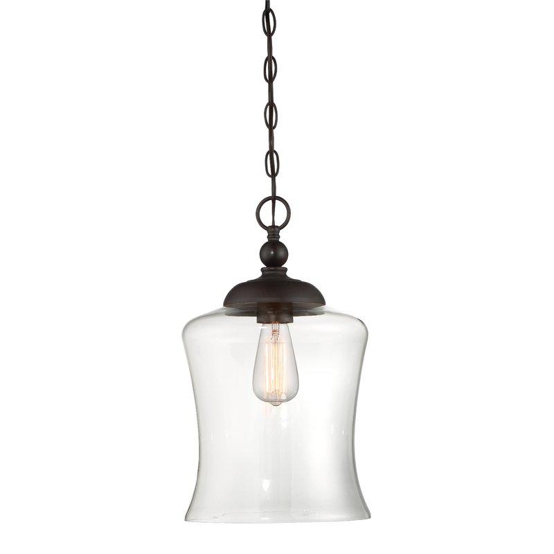 Wentzville 1 Light Single Bell Pendant For 1 Light Single Bell Pendants (Image 25 of 25)