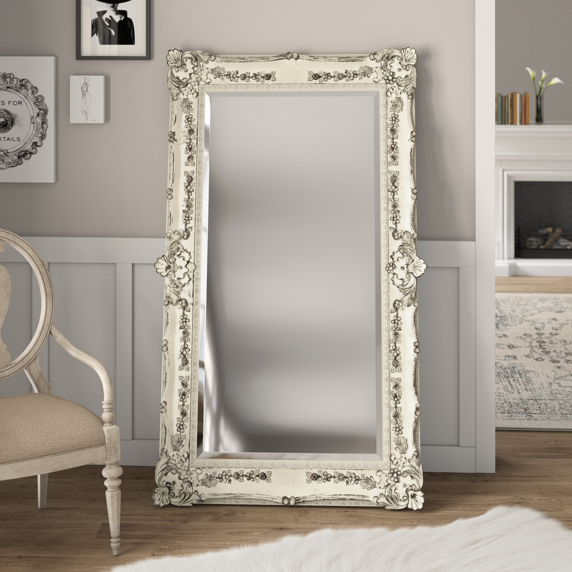 White Full Mirror | Wayfair Within Dalessio Wide Tall Full Length Mirrors (Image 19 of 20)