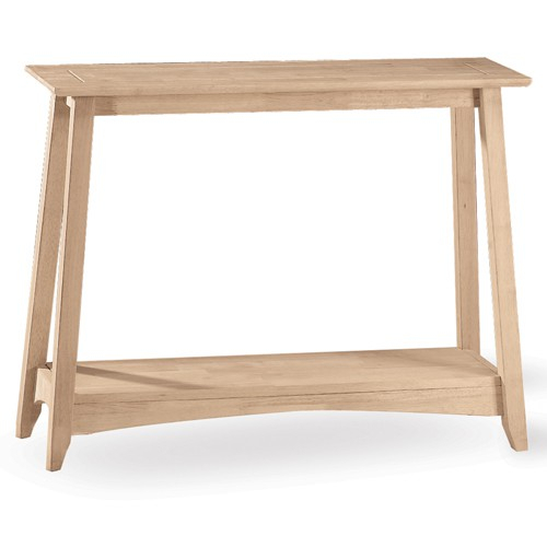 Whitewood Bombay Sofa Table With Regard To Unfinished Solid Parawood Bombay Tall Lift Top Coffee Tables (View 25 of 25)