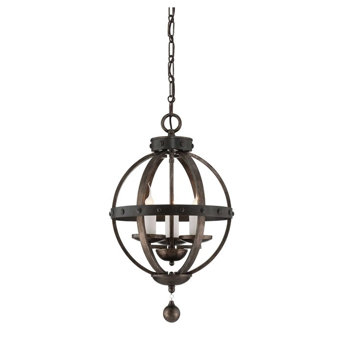 Wilburton 3 Light Globe Chandelier Intended For La Barge 3 Light Globe Chandeliers (View 18 of 20)
