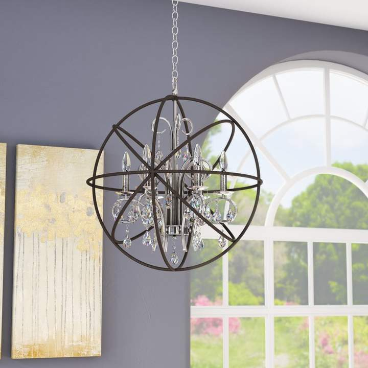Willa Arlo Interiors Alden 6 Light Globe Chandelier Regarding Alden 6 Light Globe Chandeliers (View 7 of 20)