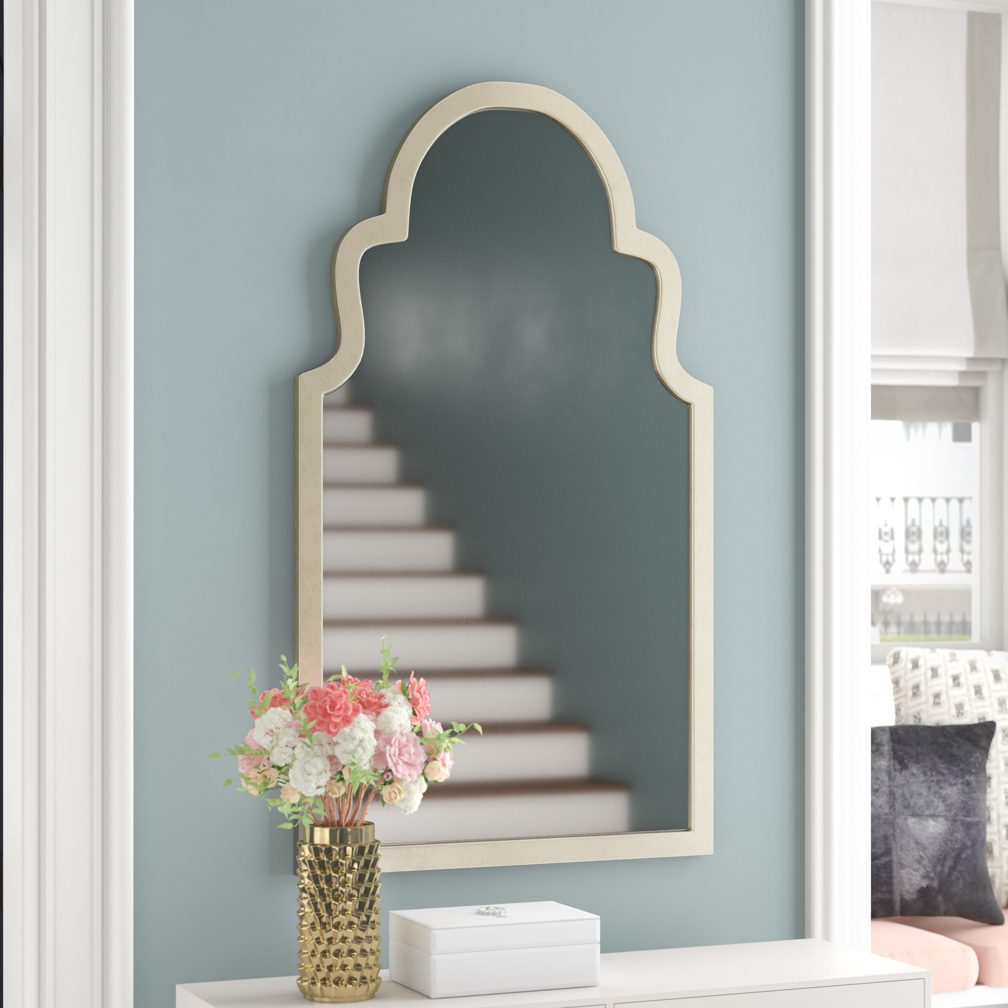 Willa Arlo Interiors Arch Top Vertical Wall Mirror & Reviews For Arch Vertical Wall Mirrors (Image 20 of 20)
