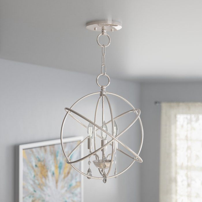Willa Arlo Interiors Auberta 3 Light Chandelier | Dining With Regard To Hendry 4 Light Globe Chandeliers (Image 20 of 20)