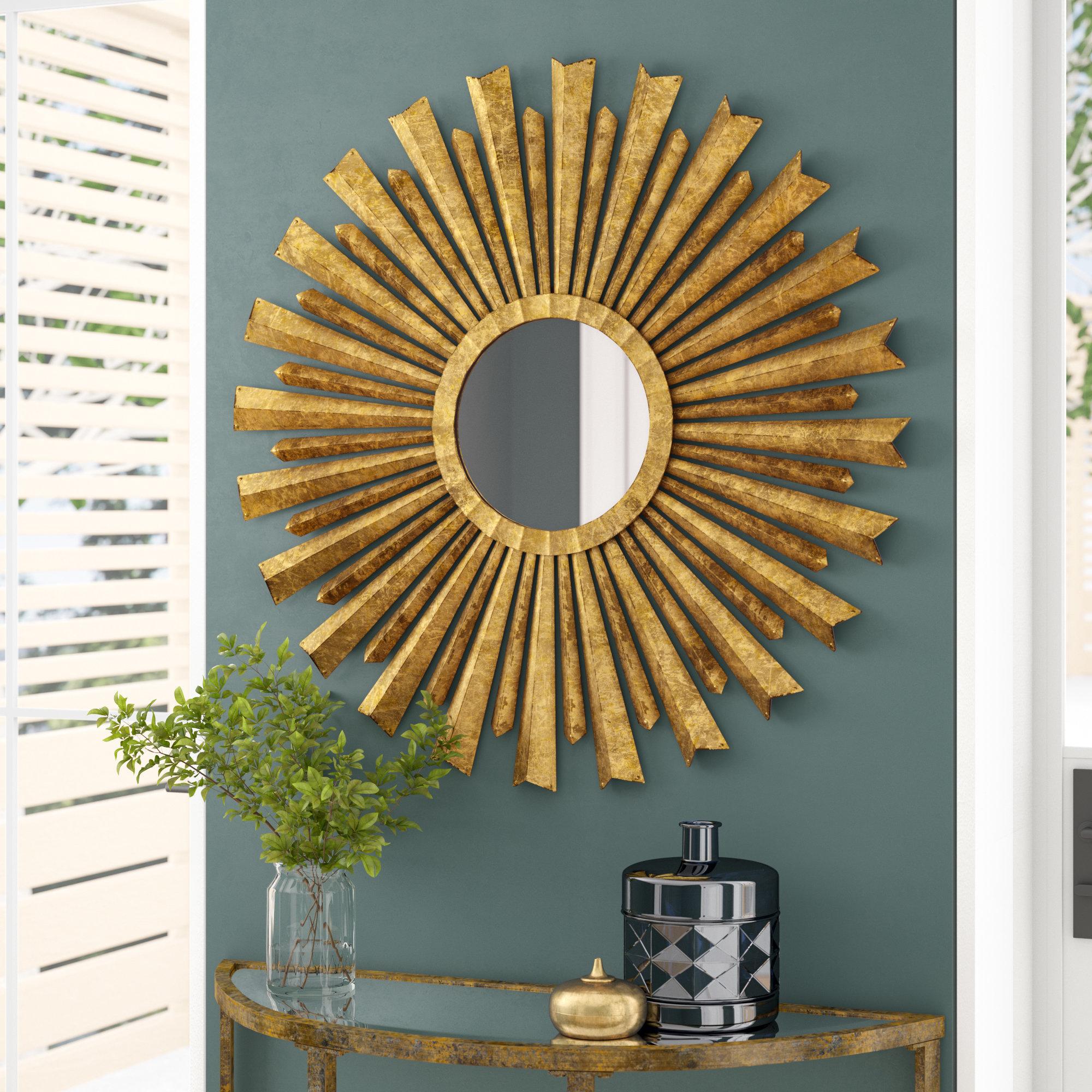 Willa Arlo Interiors Birksgate Sunburst Accent Mirror With Regard To Birksgate Sunburst Accent Mirrors (View 3 of 20)