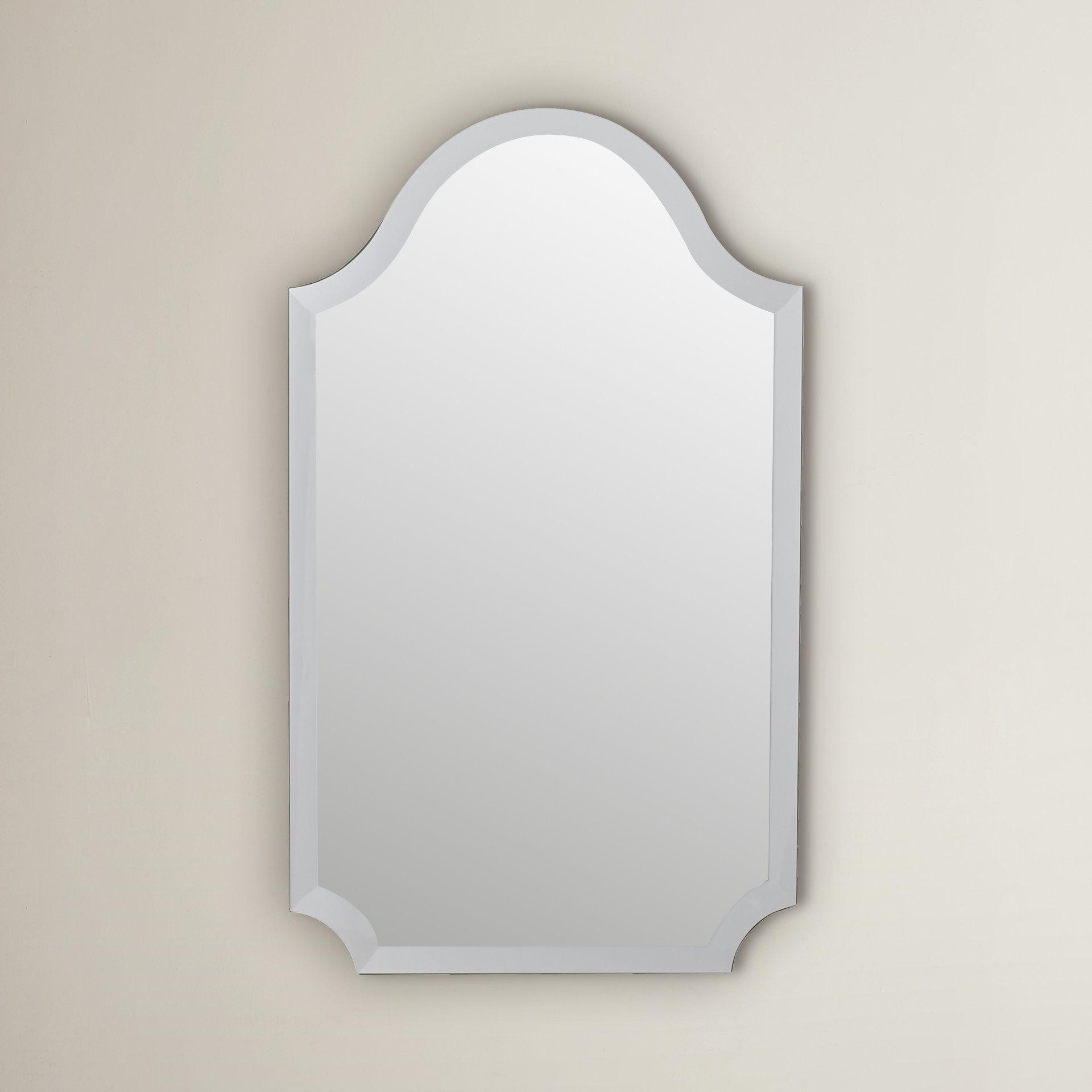 Willa Arlo Interiors Dariel Tall Arched Scalloped Wall Mirror Within Dariel Tall Arched Scalloped Wall Mirrors (Image 19 of 20)