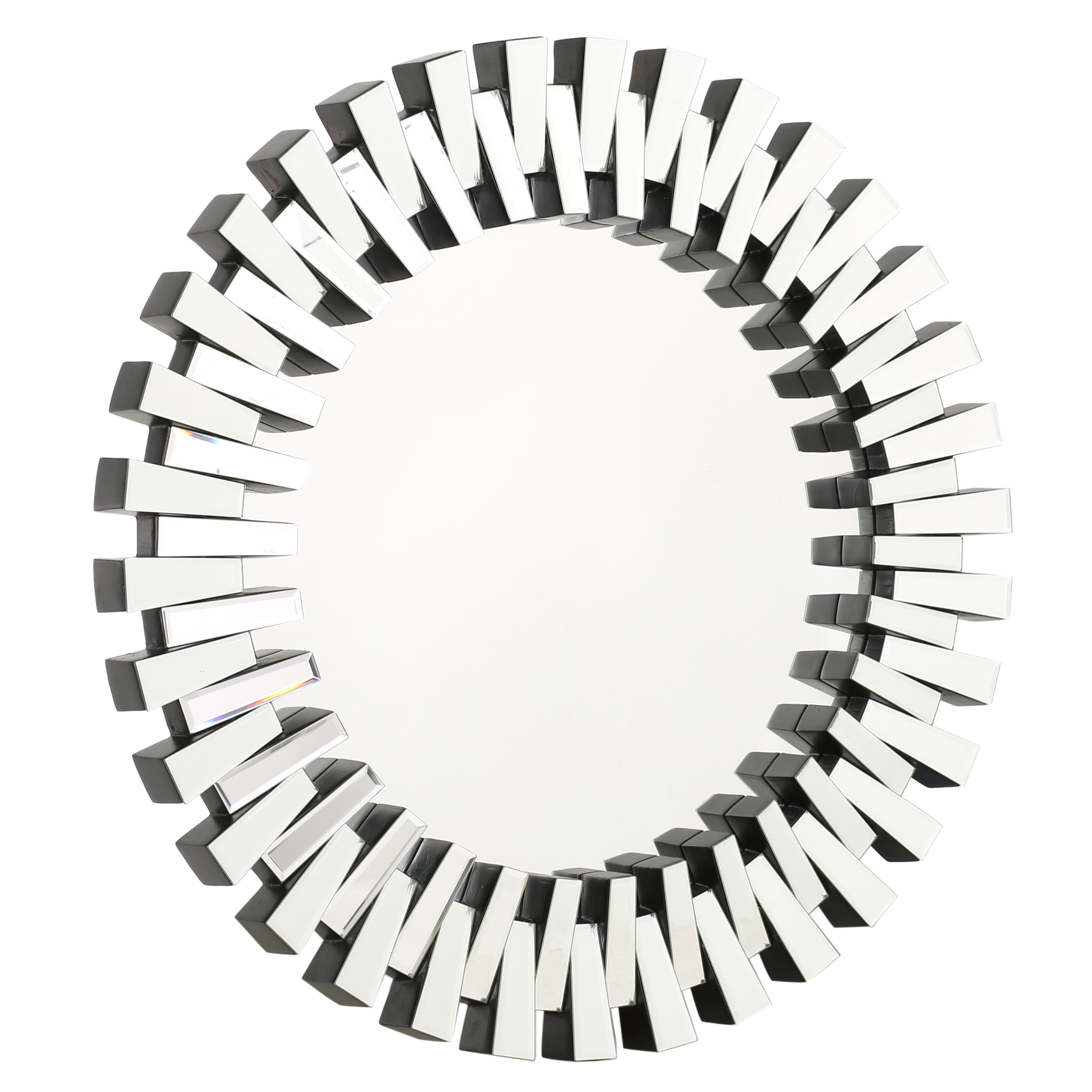 Willa Arlo Interiors Deniece Sunburst Round Wall Mirror Within Orion Starburst Wall Mirrors (Image 19 of 20)