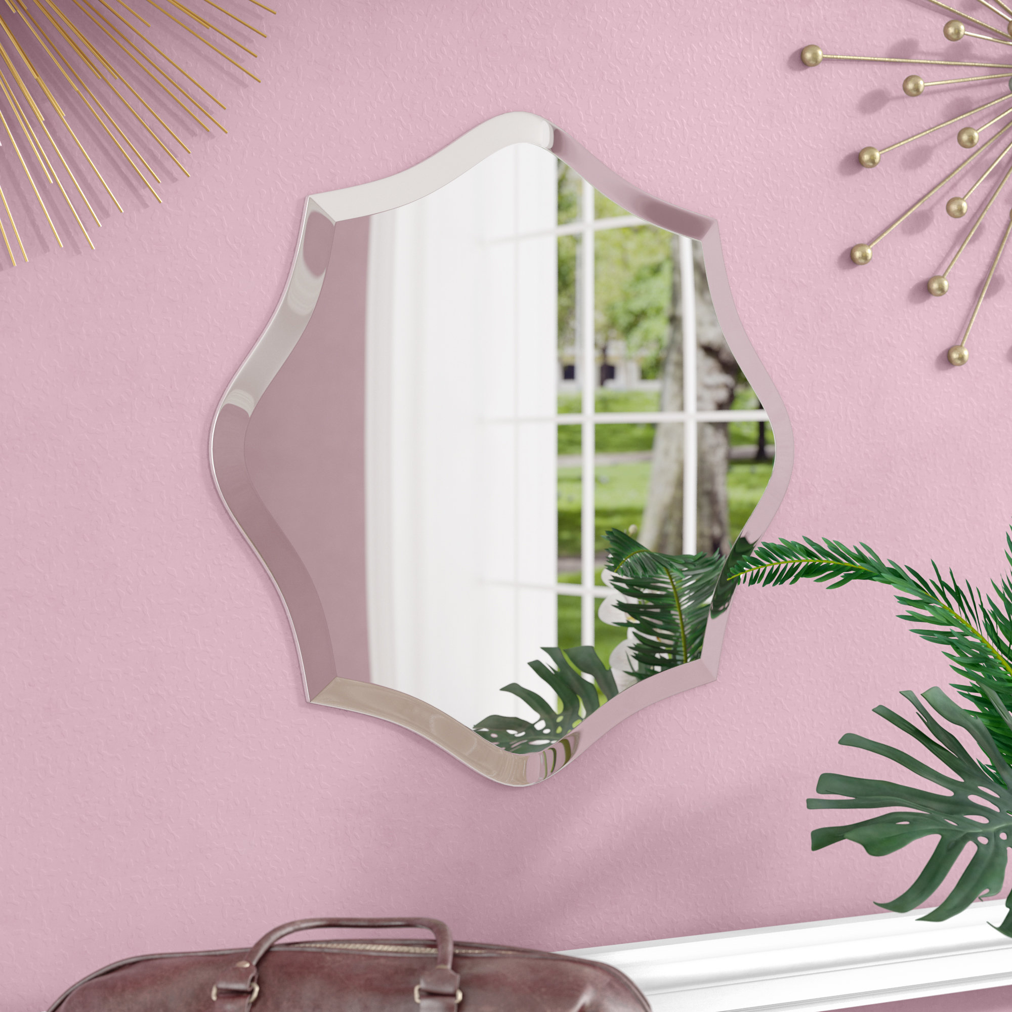 Willa Arlo Interiors Egor Accent Mirror & Reviews | Wayfair (Image 19 of 20)