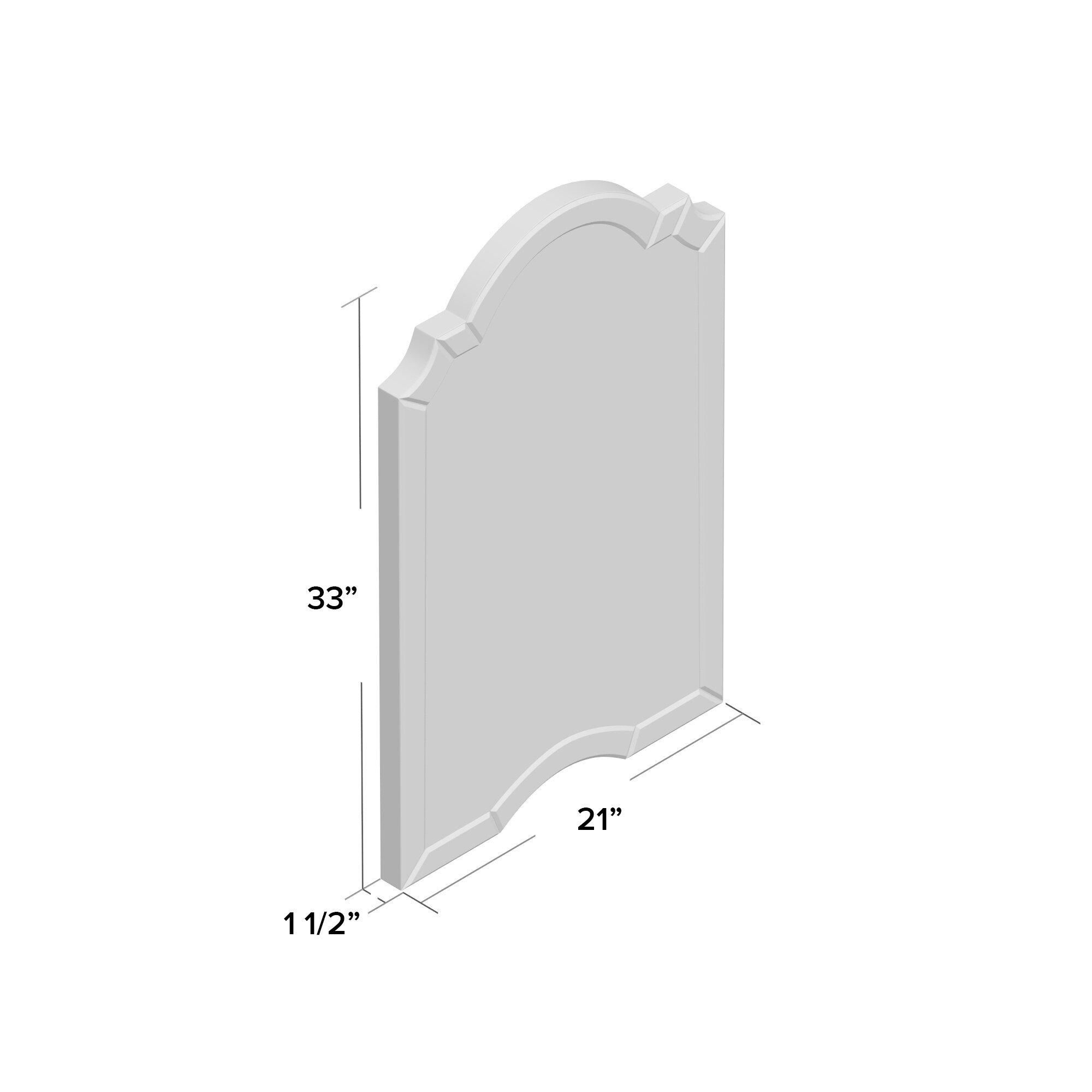 Willa Arlo Interiors Ekaterina Arch/crowned Top Wall Mirror Regarding Ekaterina Arch/crowned Top Wall Mirrors (Image 19 of 20)