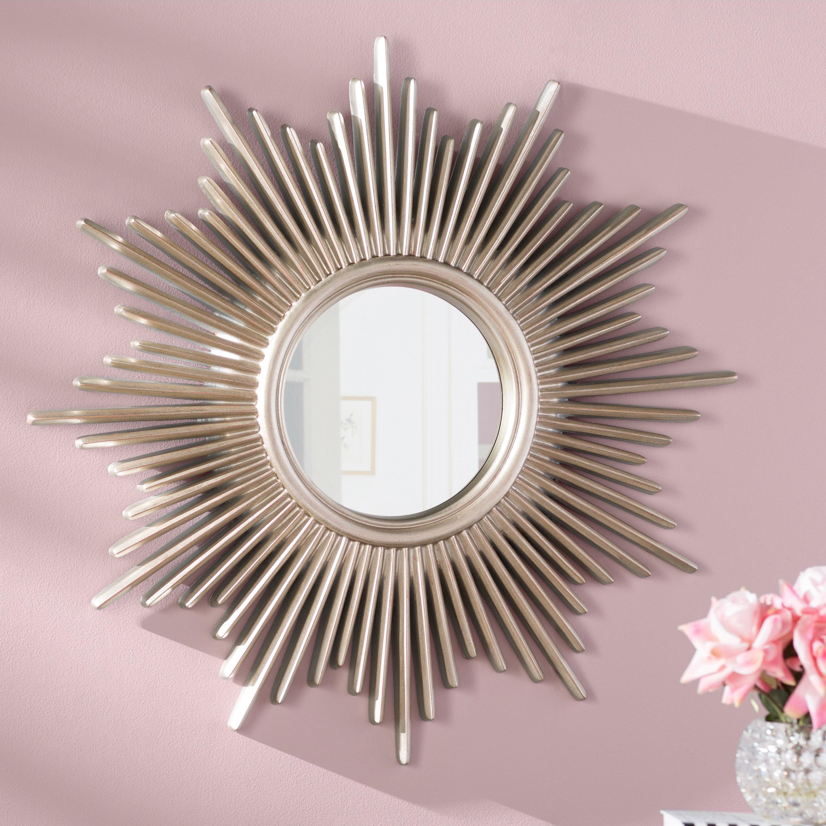 Willa Arlo Interiors Josephson Starburst Glam Beveled Accent In Estrela Modern Sunburst Metal Wall Mirrors (View 19 of 20)