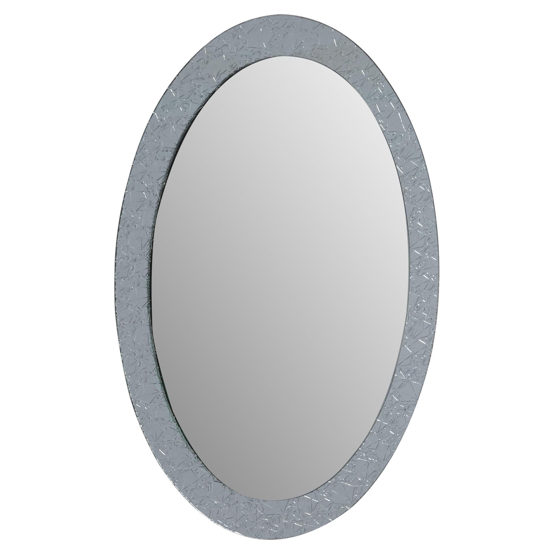 Willa Arlo Interiors Sajish Oval Crystal Wall Mirror With Sajish Oval Crystal Wall Mirrors (View 2 of 20)