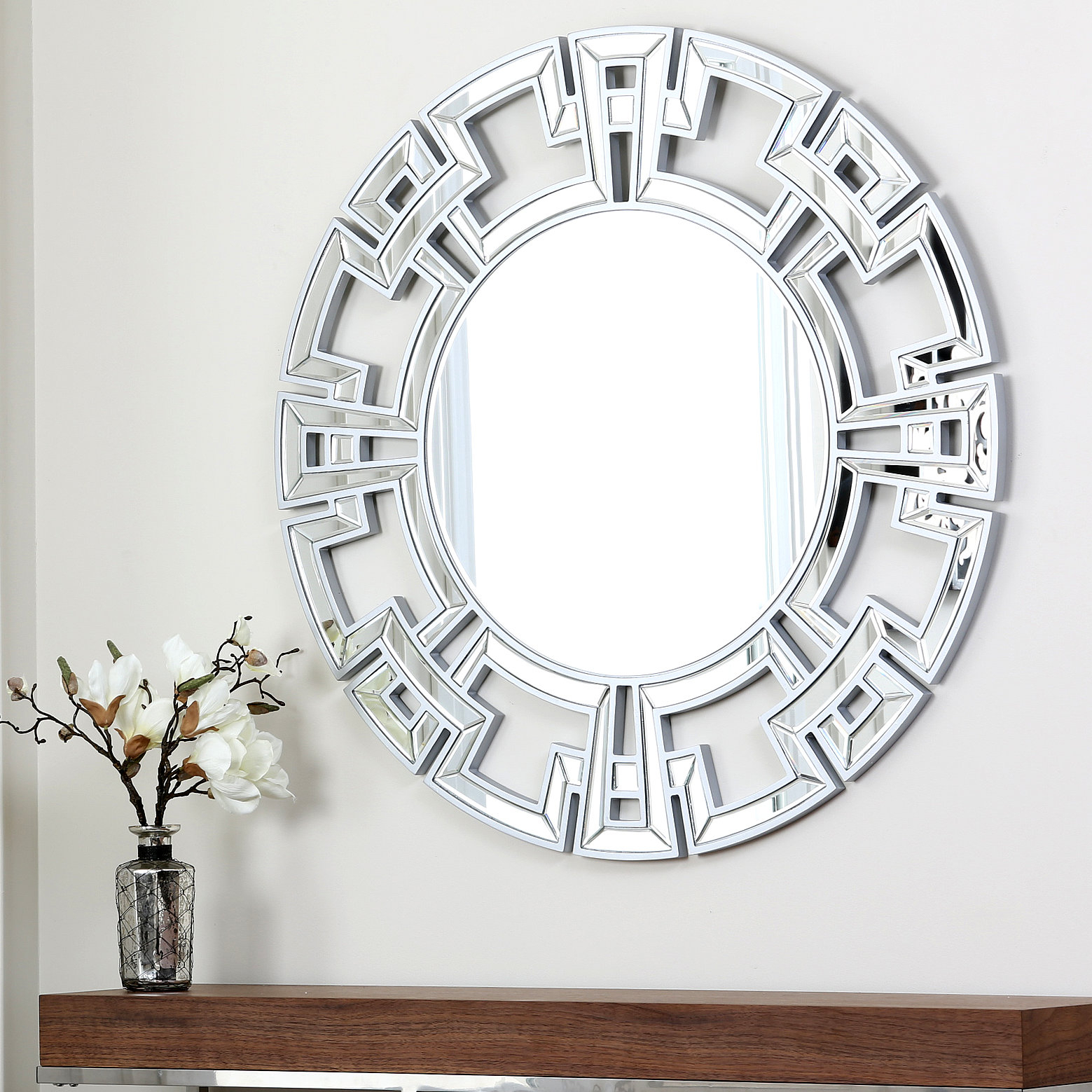 Willa Arlo Interiors Tata Openwork Round Wall Mirror Regarding Dandre Wall Mirrors (Image 19 of 20)