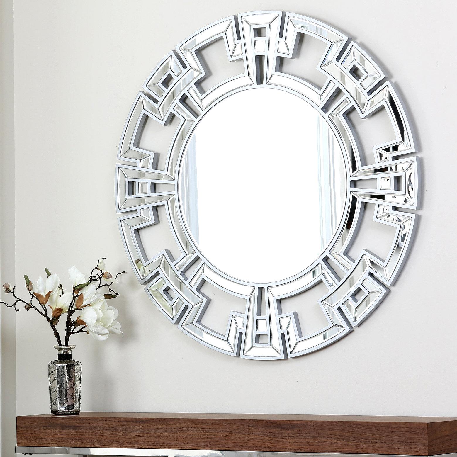 Willa Arlo Interiors Tata Openwork Round Wall Mirror Regarding Dandre Wall Mirrors (View 16 of 20)